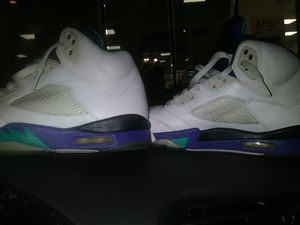 Authentic Nike Air Jordan 5 V Retro LS emerald Grape 2006. Mint cond. for Sale in Rancho Cucamonga, CA