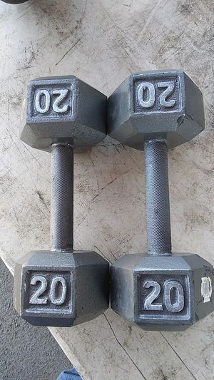 Two 20 pounds dumbbells for Sale in Southfield, MI