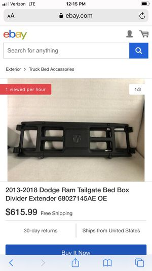 Black adjustable Dodge Ram tailgate for Sale in Las Vegas, NV