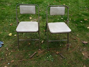 2 vintage Samsonute folding chairs for Sale in Beaverton, OR