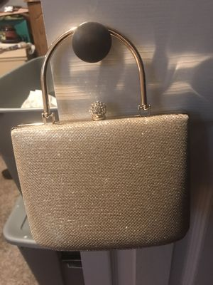 Gold evening clutch for Sale in Fort Washington, MD