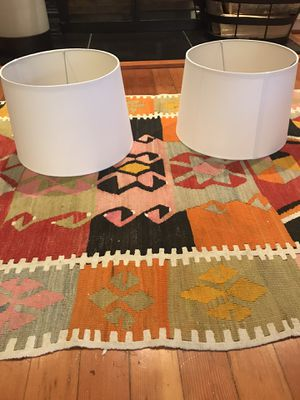 Two new, clean lampshades in perfect condition for Sale in Seattle, WA