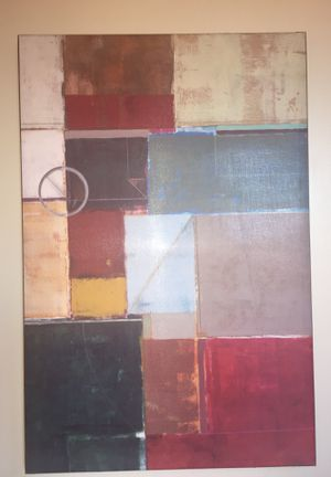 Art Canvas Painting - Abstract/Red for Sale in Portland, OR