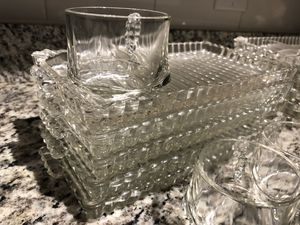 Antique Glass trays with mugs for Sale in Tampa, FL