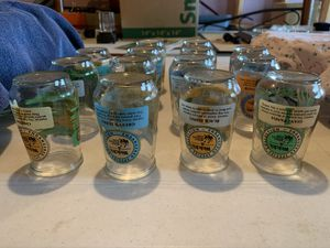 Vintage 1995 Welch's Jelly jar Glasses Endangered Species Collection World Wild Life Fund. for Sale in Riverside, IA
