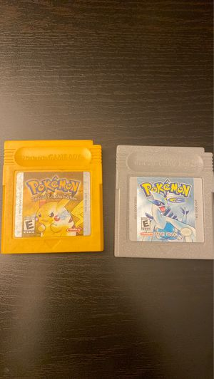 Pokémon Yellow and Silver Editions for Gameboy for Sale in San Diego, CA