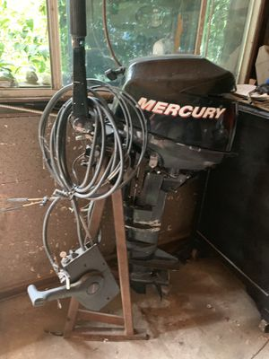 MERCURY 8 HP 4 STROKE OUTBOARD MOTOR TILLER for Sale in Irving, TX