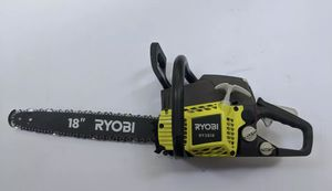 """Ryobi RY3818 2 Cycle 18"""" Chainsaw with Heavy Duty Case 38cc 2-Cycle Gas for Sale in St. Petersburg, FL"""