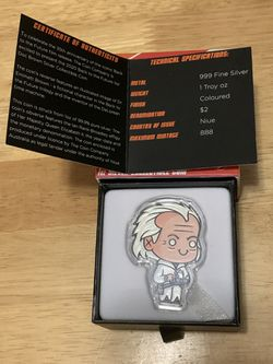 2020 Doc Brown Chibi Silver Coin for Sale in Gainesville,  VA