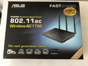 ASUS RT-AC66U Dual-Band WiFi Router WIFI Black for Sale in San Jose, CA