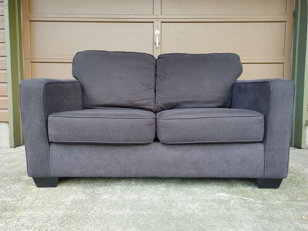 Modern Blue Grey Loveseat Sofa (FREE Local Delivery)