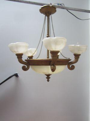 Vintage style alabaster chandelier for Sale in South River, NJ