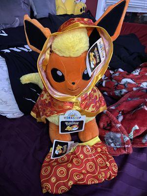 Build a bear pokemon flareon bundle for Sale in Pelham, NH