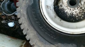 Mower rims and tires sold as is not tested for Sale in Springfield, MA