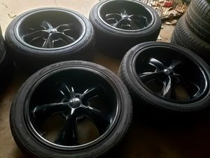 """18"""" Foose Rims with Tires for Sale in Dallas, TX"""