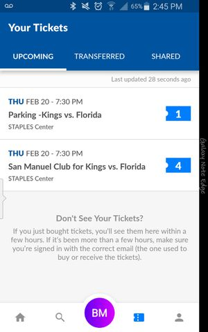 L.A. Kings vs Florida Panthers 2/20 for Sale in Long Beach, CA