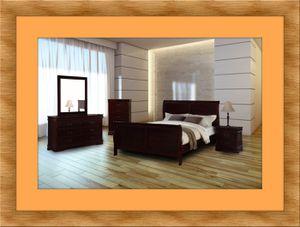 11pc Louis Phillipe bedroom set with mattress for Sale in Ashburn, VA
