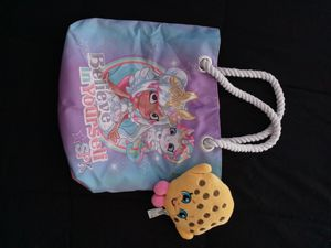 Shopkins mystabella beach bag and cookie plush for Sale in Houston, TX
