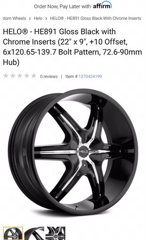 """Used 22"""" helo rims good tires for Sale in Everett, MA"""