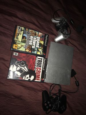 Ps2 with controllers & + 2 Great Games for Sale in Stanton, CA