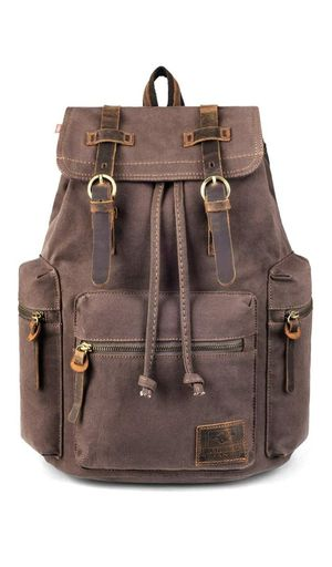 Canvas Vintage Backpack, PKUVDSL Mens Rucksack for Travel Adventure Bookbag for Sale in Las Vegas, NV