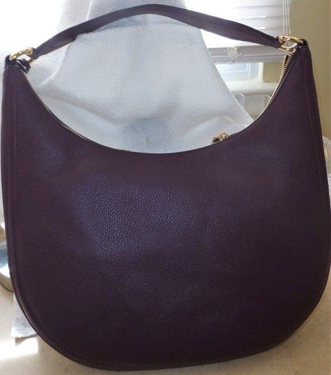 Michael Kors Lydia Hobo Damson Leather Shoulder Bag