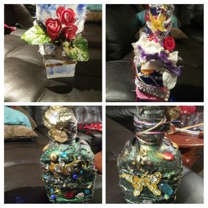 Decorated glass bottles, $12 to $17 for Sale in Costa Mesa, CA