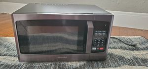 Toshiba EM925A5A-BS Microwave Oven with Sound On/Off ECO Mode and LED Lighting, 0.9 Cu. ft/900W, Black Stainless Steel for Sale in Austin, TX