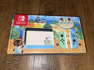 Nintendo Switch NEW SEALED animal crossing limited edition for Sale in Houston, TX