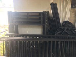 Frame only for this price! Twin steal metal military grade bunk bed for Sale in HALNDLE BCH, FL