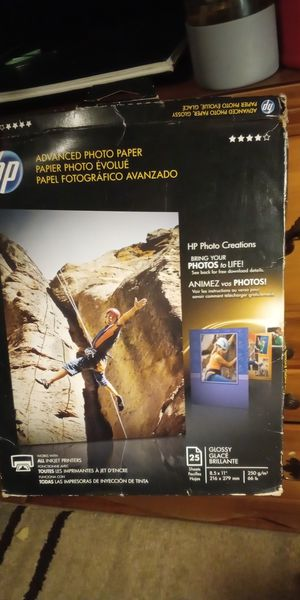 Hp advance photo paper for Sale in Fairmont, WV