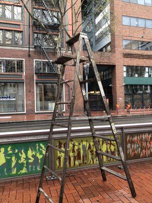 8 ft wood ladder Werner for Sale in Portland, OR