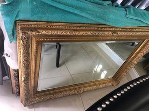 Elegant gold color mirror for wall decor for Sale in Miami, FL