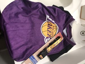 Los Angeles Lakers dog shirt and collar for Sale in El Monte, CA