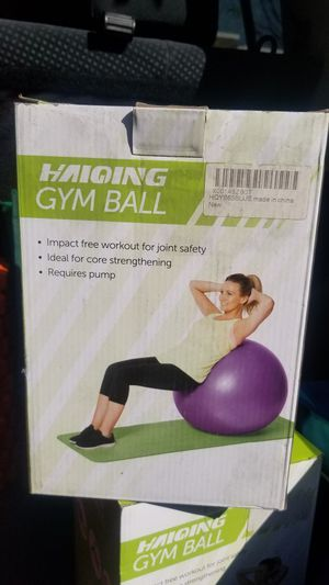 Haiqing Gym Exercise Ball for Sale in Loma Linda, CA