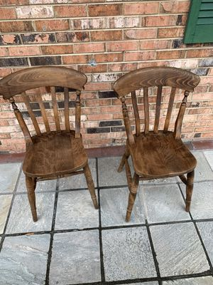 Two wooden chairs for Sale in Beltsville, MD