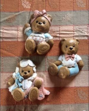 Burwood Products - made in the U.S.A. 3 Bears wall decor for Sale in Milnesville, PA