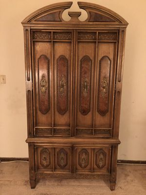 Antique Armoire solid wood with drawers for Sale in Baltimore, MD