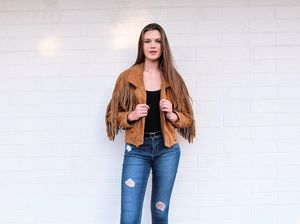 Vintage Genuine Leather Fringe Jacket for Sale in Los Gatos, CA