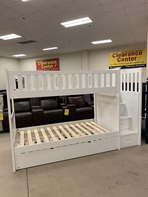 40% OFF FLOOR SAMPLE Twin Bunkbed w/ Trundle & Storage Staircase for Sale in Seekonk, MA