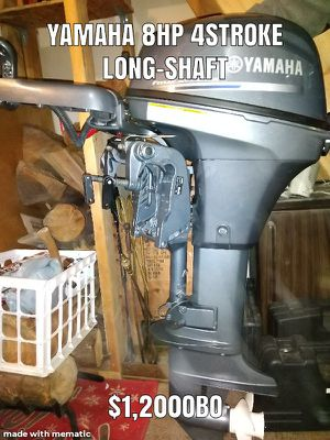 Yamaha 8HP outboard motor for Sale in Stanwood, WA