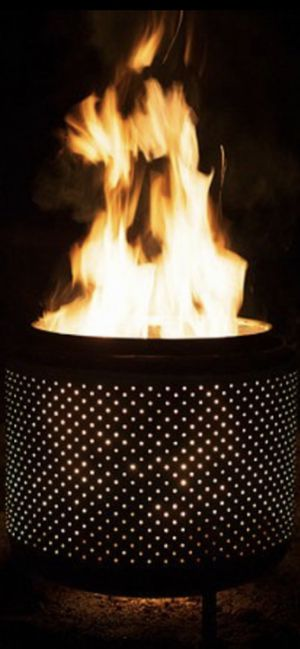 FIRE WOOD DRUM PIT STAINLESS BEAUTIFUL GLOWING for Sale in Vancouver, WA