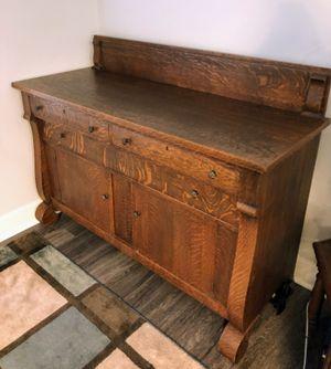 Wood Antique Sideboard for Sale in Alexandria, VA