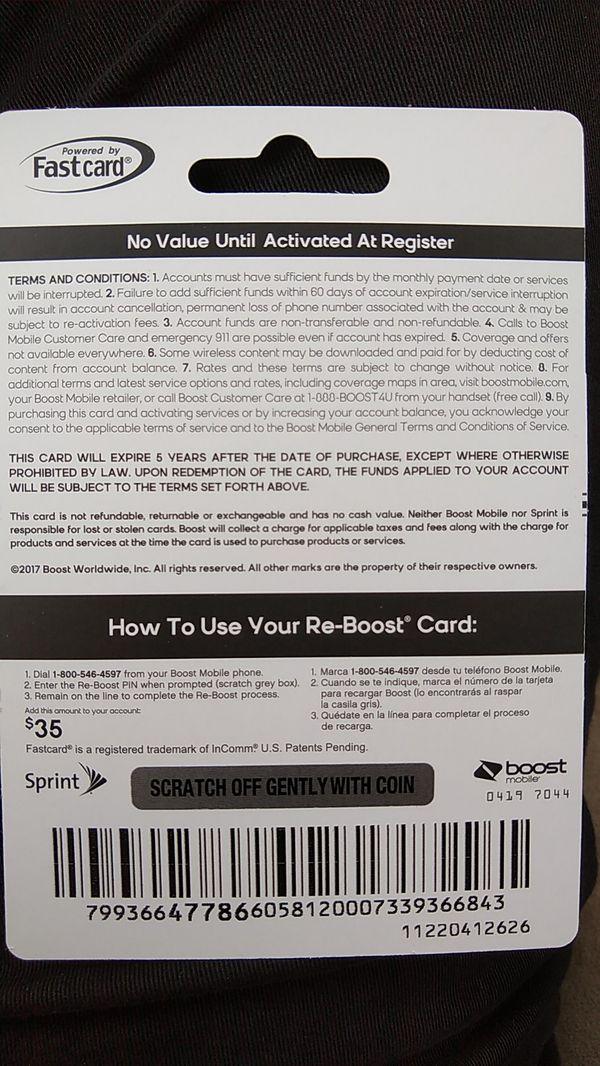 Boost Mobile $35 prepaid card