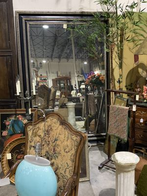 Huge Black & Light Gold Frame Mirror - 86 inches height for Sale in West Palm Beach, FL