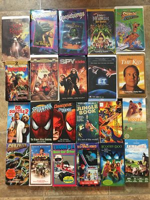 22 kids vhs movies - take all for Sale in Tampa, FL