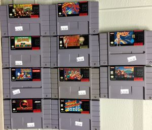 Super Nintendo (SNES) Games For Sale *Prices Listed on Games Are Negotiable* for Sale in Austin, TX