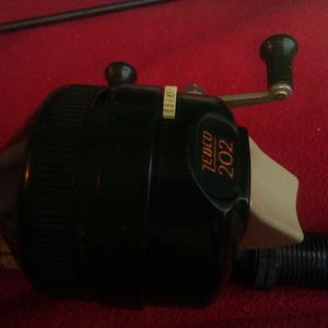 Vintage Two-piece Rod With Cork Handle Zebco 202 Reel 7 Ft Long for Sale in Los Angeles, CA