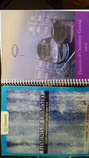 Chemistry 112 text book and Lab book. for Sale in Elgin, IL