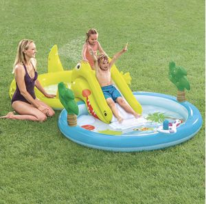 NEW Intex Inflatable Kids Slide Pool Gator Play Center for Sale in Chicago, IL
